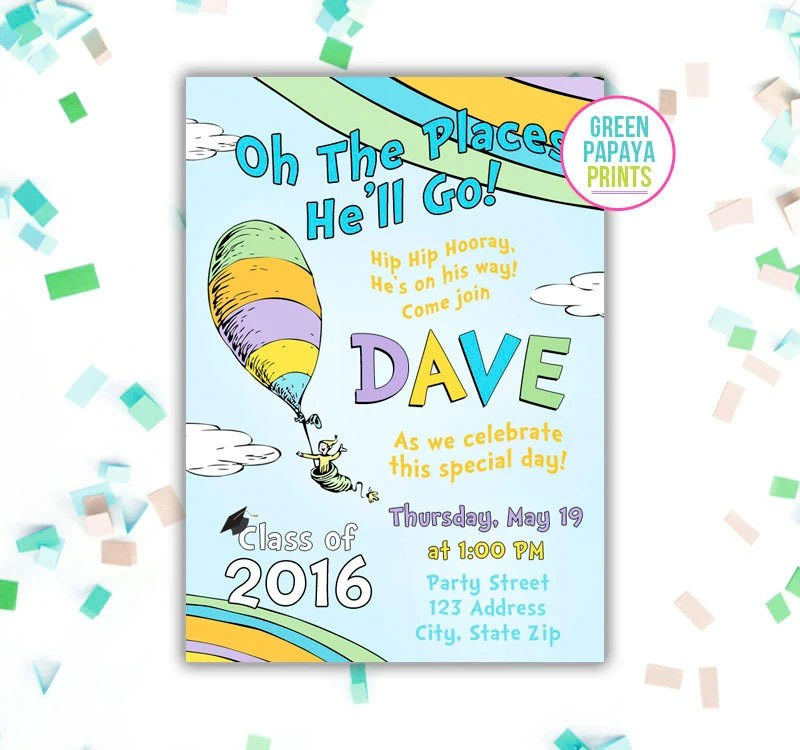 Places Order Graduation Invitations