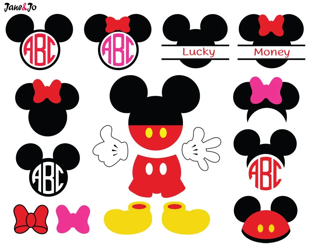 Download Mickey SvgMickey Mouse SvgMickey MonogramMinnie SvgMinnie