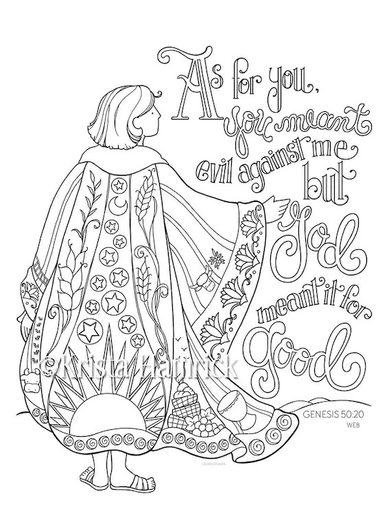 Josephs Coat Of Many Colors Coloring Page 85X11 Bible