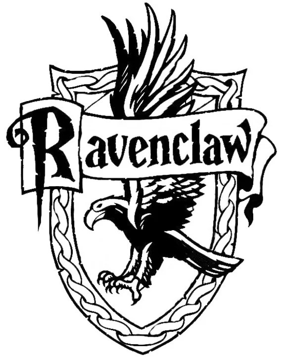 harry potter decal ravenclaw crest decal hogwarts