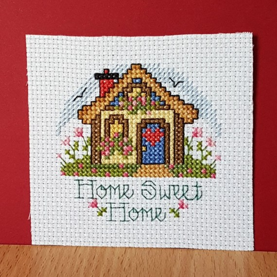 Home Sweet Home in Cross Stitch.