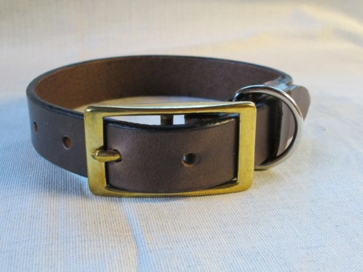 Brown leather collar  har...