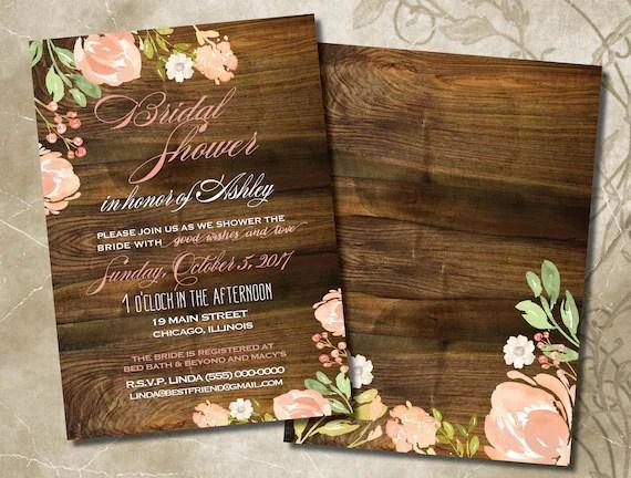 Bridal Shower Invitations Blush