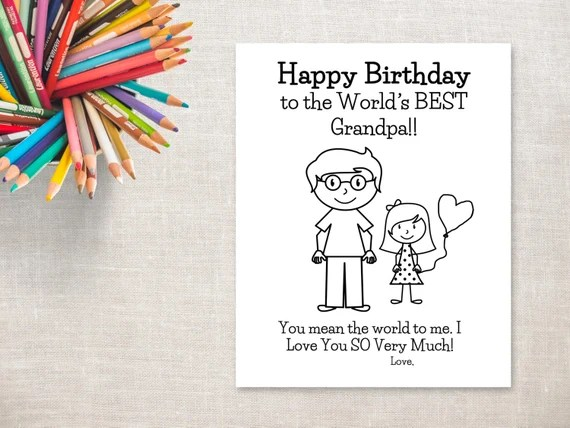 Best Happy Birthday Grandpa Card Printable Image Collection
