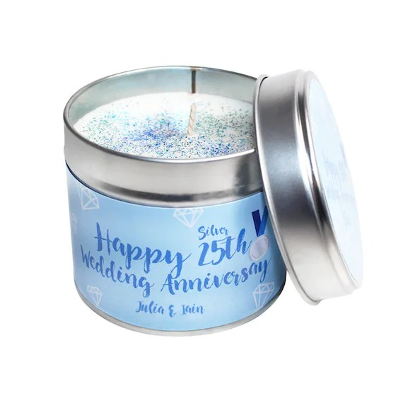 Personalised Anniversary Candle Tin