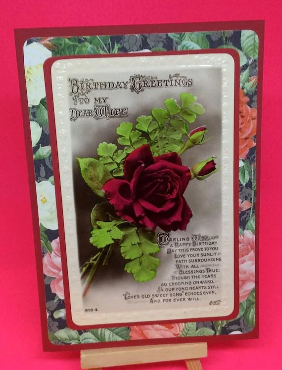 Vintage wife birthday card