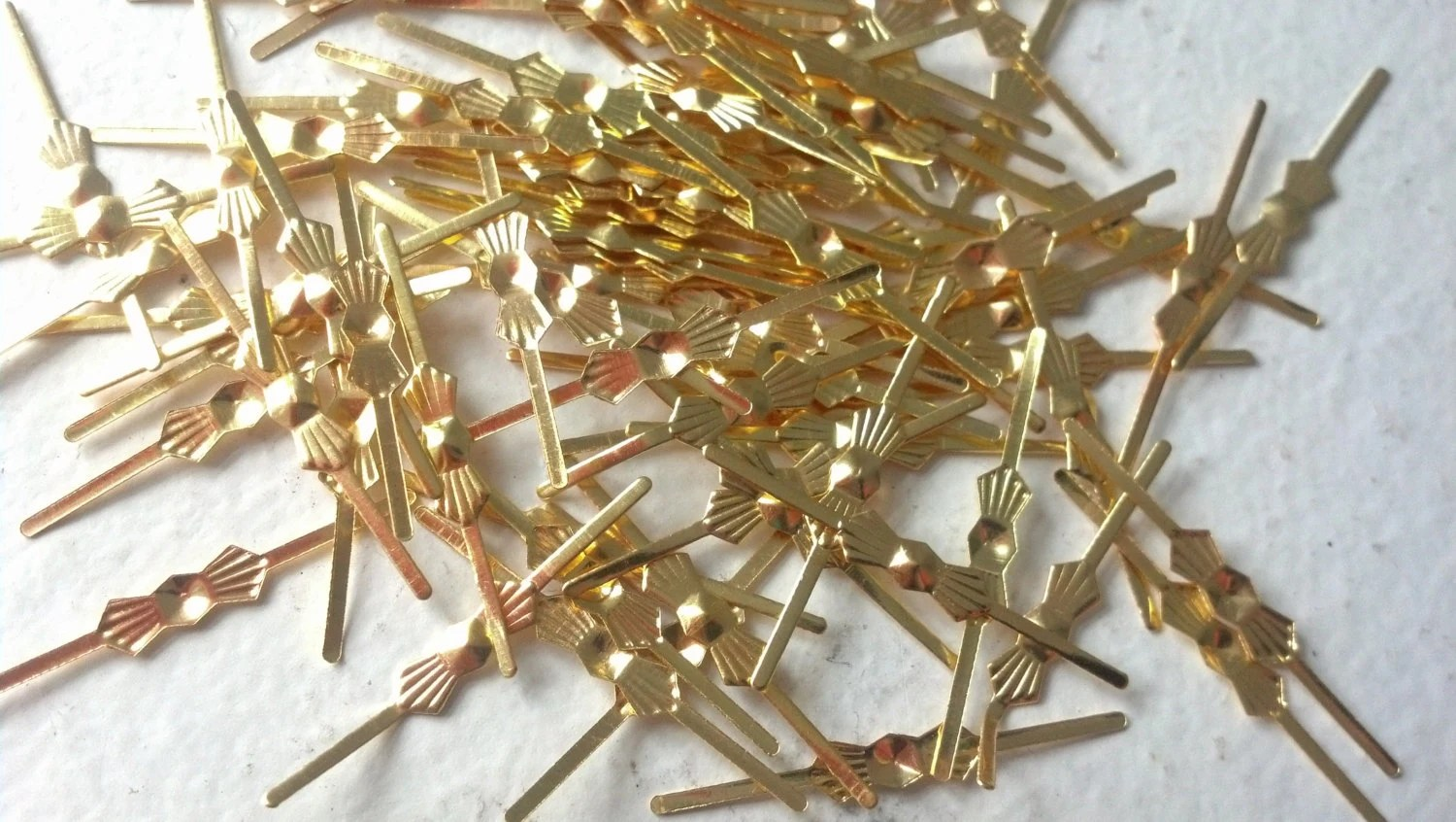 33mm Gold Tone Bowtie Chandelier Pins Crystal Connectors