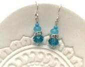 Blue Czech Crystal, Silve...
