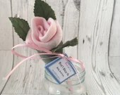 Baby Sock Single Rose - P...