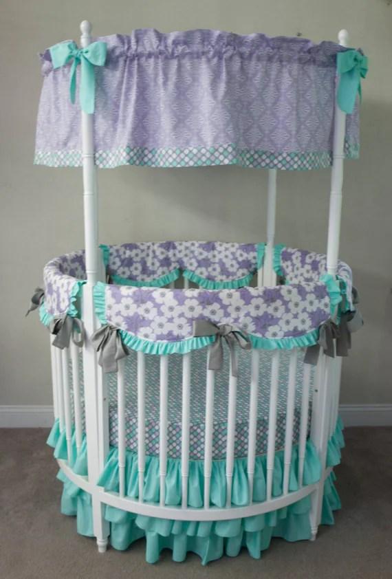 Round Crib Bedding Set by HandmadeBySasha