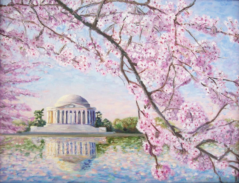 Cherry Painting Tsunami Blossom Tree