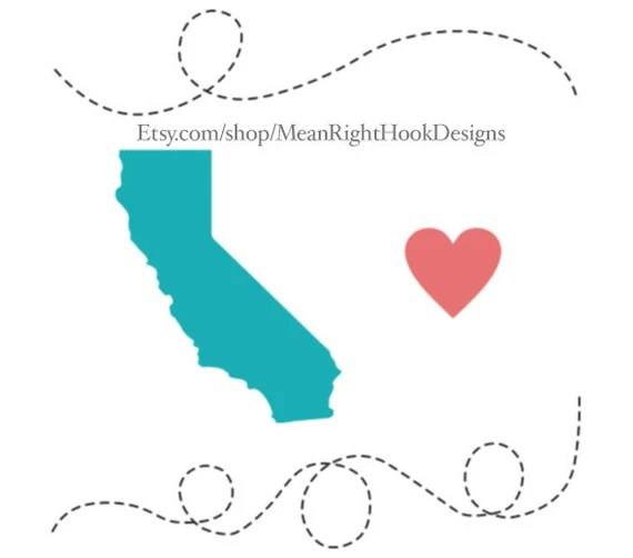 Download California SVG state svg silhouette heart svg and dotted