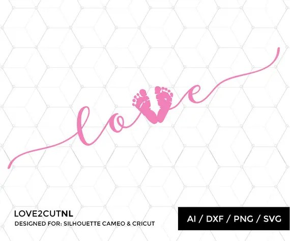 Download Baby SVG Baby Love SVG Baby foot print svg cut file for