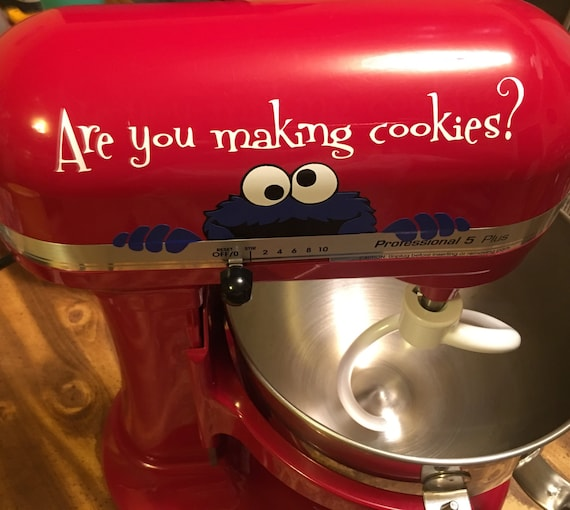 Kitchen Aid Mixer Decal Cookie Monster Are You Making