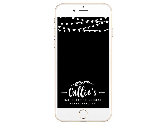 Bachelorette Snapchat Geofilter Mountain Weekend Light