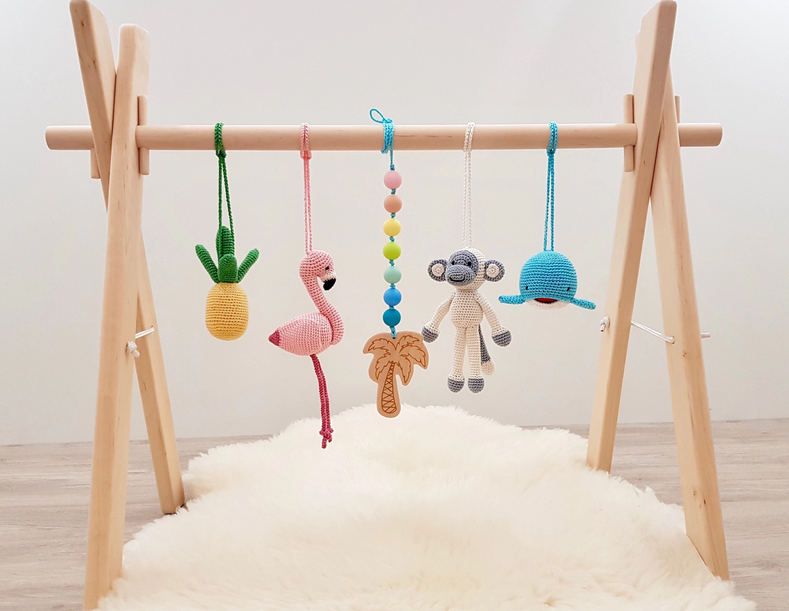 Tropical Baby Play Gym by LanaCrocheting for Baby Girl Shower Gift Ideas