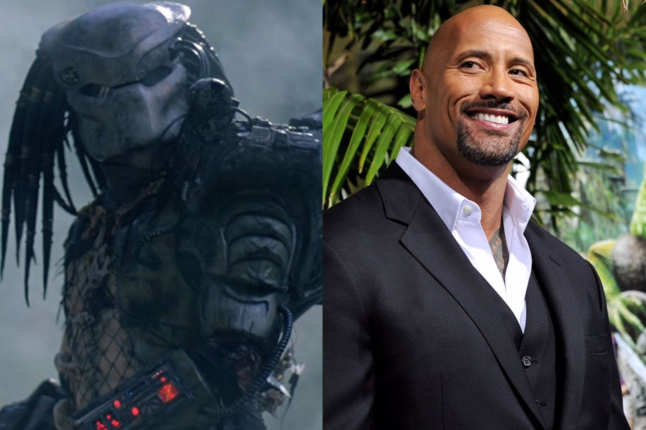 Image result for The Rock versus The Predator