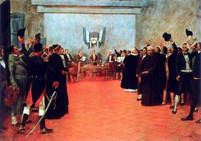 Resultado de imagen para Fotos de la firma del Acta de la Independencia en el Congreso de Tucumán en 1816