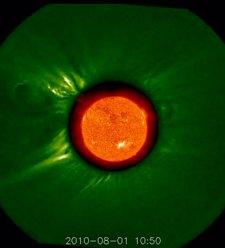 Foto de la NASA de la eyección solar