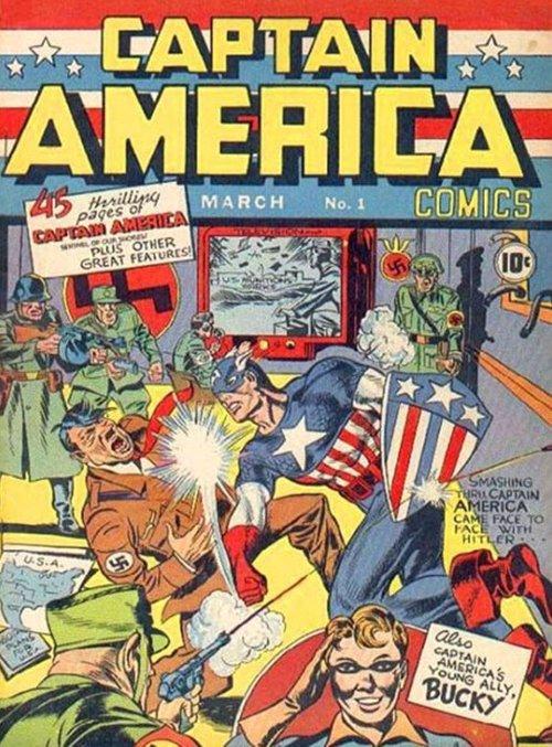 Portada del primer número de Capitán América
