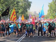 Manifestación minera de hoy en Madrid