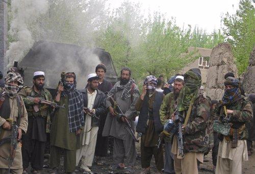 Combatientes talibán en Afganistán