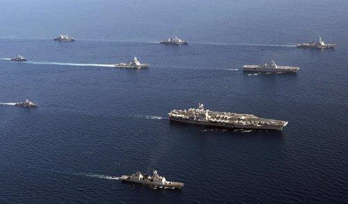 Maniobras navales entre EEUU y Corea del Sur