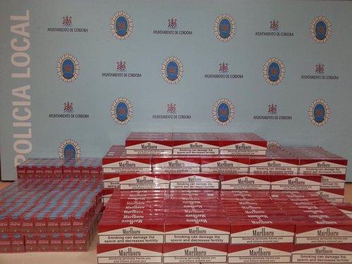 Cajetillas de tabaco intervenidas por la Policía Local