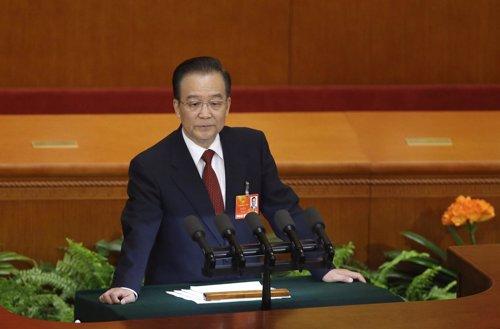 Primer ministro chino Wen Jiabao en la sesión anual del Parlamento