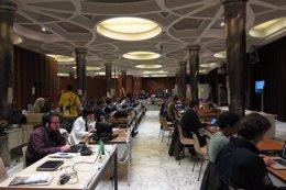 Periodistas en la cobertura del Cónclave
