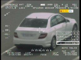 Exceso de velocidad, coche, radar