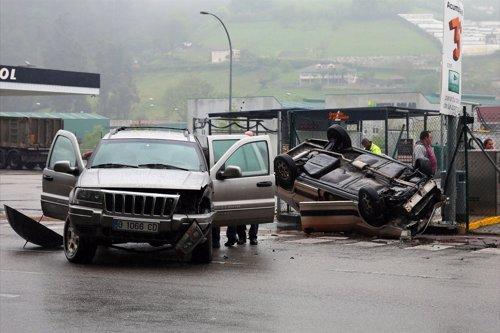 Accidente de tráfico en el Sotón (SRMA)