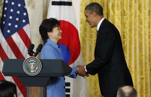 Obama con la presidenta de Corea del Sur, Park Geun Hye