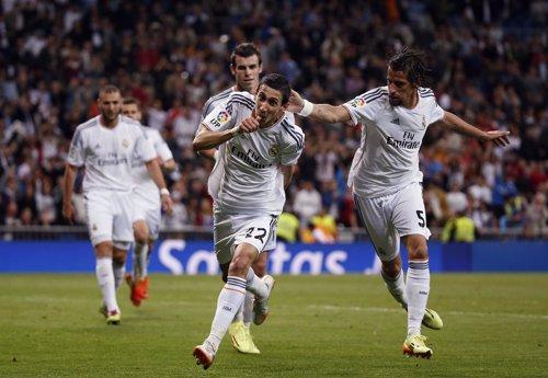 Ángel di María celebra el gol ante el Almería
