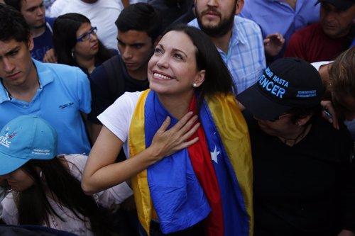 Opositora venezolana Corina Machado