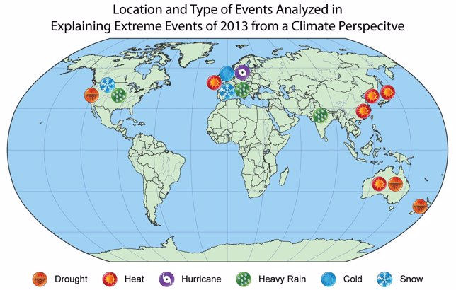Estudio sobre eventos meteorológicos de 2013