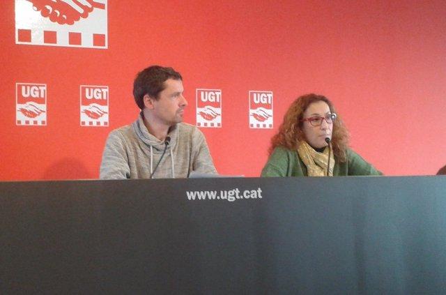 J.Puntí y A.Burgueño, FETE-UGT