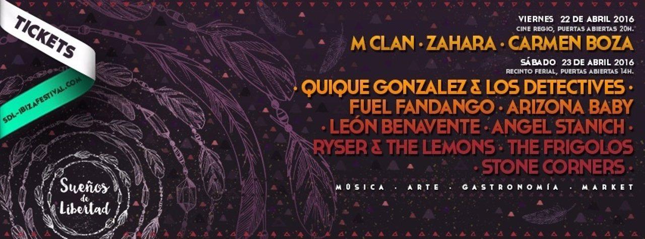 Cartel de Sueños de Libertad Festival 2016