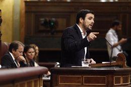 Garzón en el debate de investidura en el Congreso