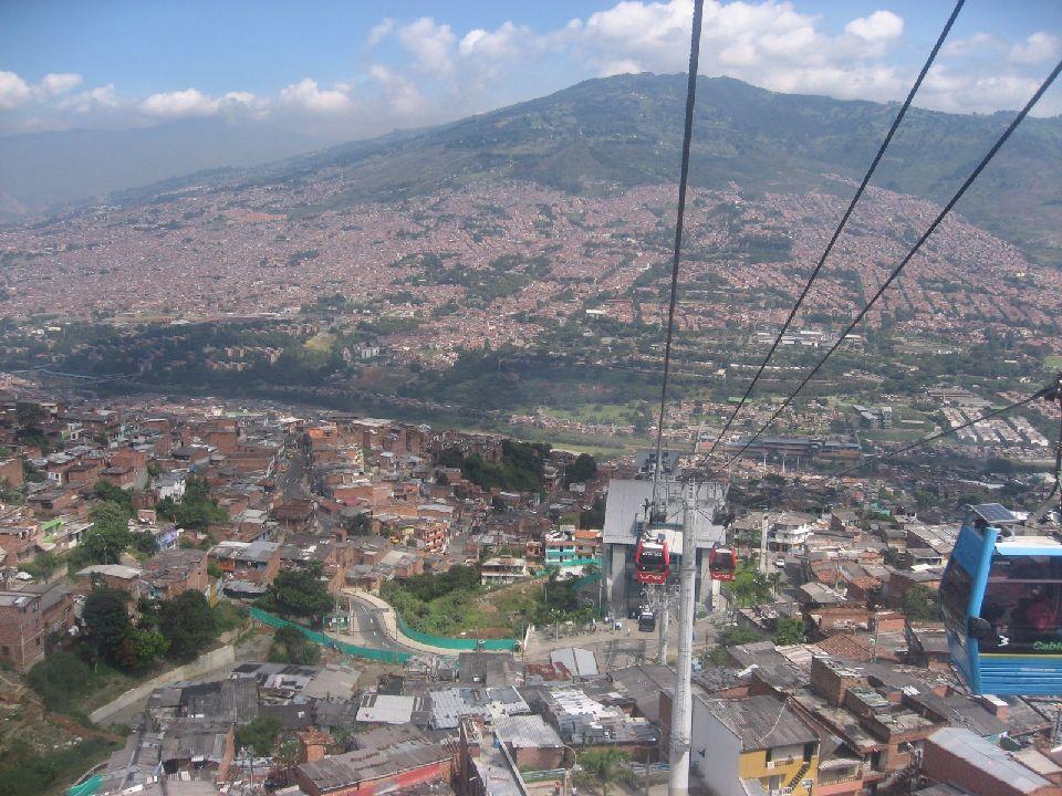 Un téléphérique urbain comme à Medellín en Colombie