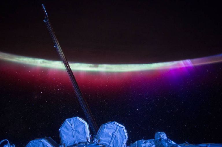 Aurora's Colorful Veil over Earth