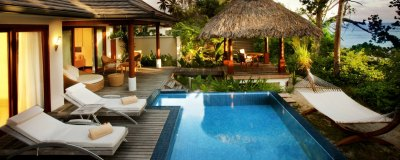 Hotel Hilton Seychelles Labriz Resort & Spa in Silhouette