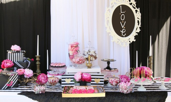 Bridal Shower Themes Black White And Pink
