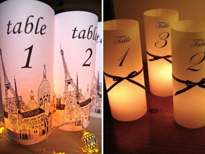 Landmark Venues Wedding Table Numbers Dove Photography