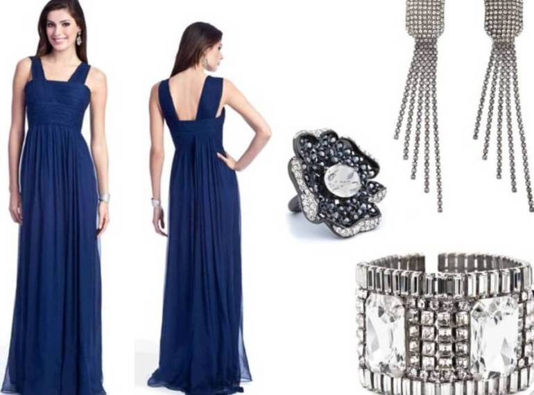 Which Color Jewelry Goes with Dark Blue Dresses    EverAfterGuide Silver