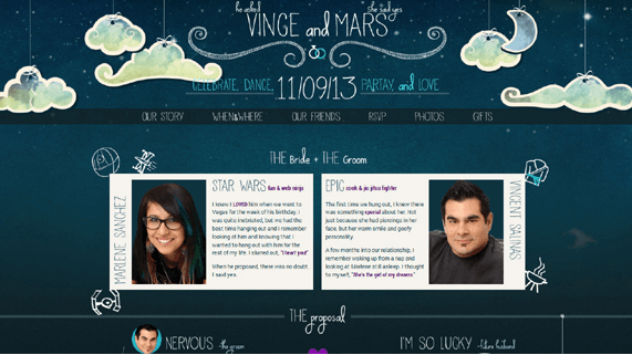 25 Most Creative And Wonderful Wedding Website Ideas