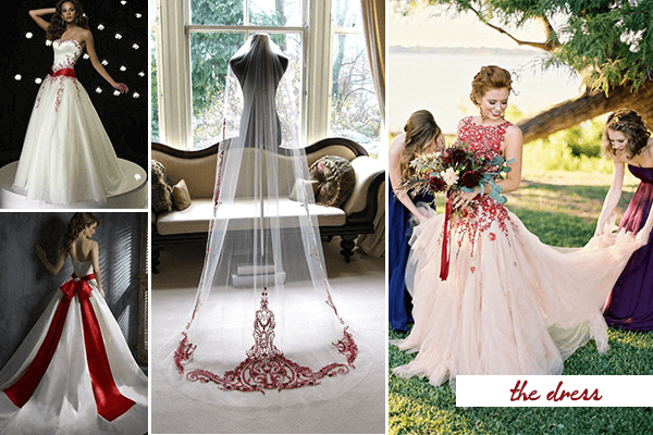 Passion And Love: 20 Fabulous Red And White Wedding Ideas