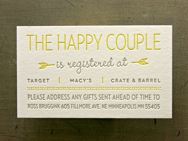 Registry Cards For Wedding Etiquettes To Follow