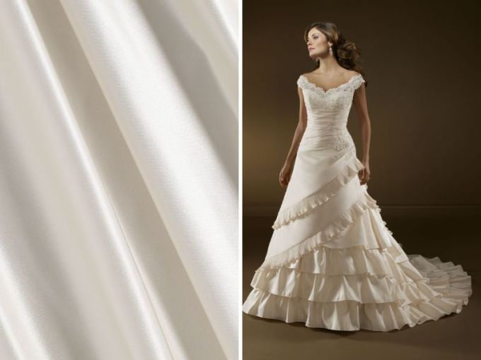 List of the Trendiest Wedding Dress Material and Fabrics     Satin