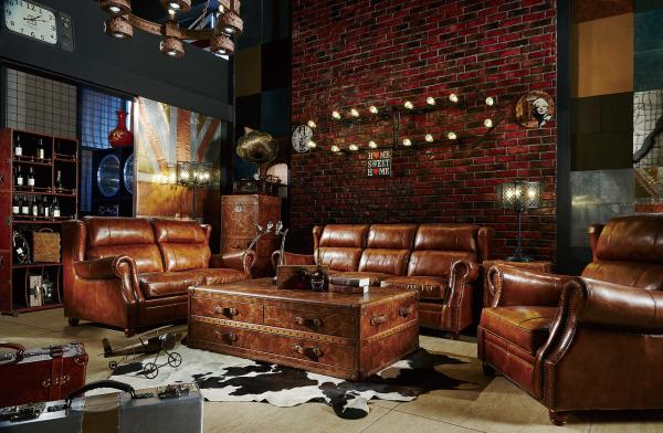 modern brown leather sectional sofas